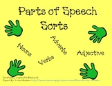 Parts of Speech Sort- Nouns, Verbs, Adjectives, Adverbs