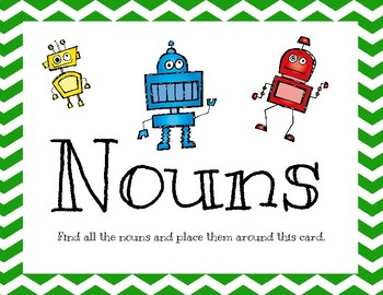 Parts of Speech Sort - Nouns, Verbs, and Adjectives