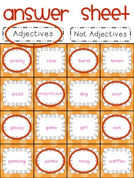 Parts of Speech Sorting {ADJECTIVES: 6 sorting activities, tons of fun!}