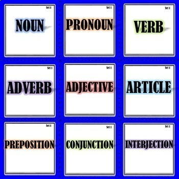 Parts of Speech Sort that can be used for Center or Station Activity