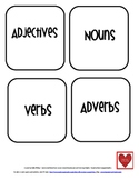 Parts of Speech Sorting Activity Center