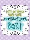 Parts of Speech Sorting {CONJUNCTIONS: 6 sorting activities, tons of fun!}