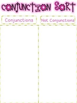Parts of Speech Sorting {CONJUNCTIONS: 6 sorting activities, tons of fun!}
