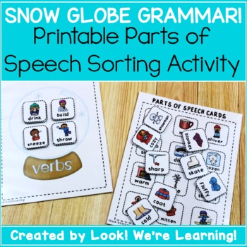 Parts of Speech Sorting Game - Snow Globe Grammar!