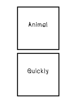 Parts of Speech Sorting Station