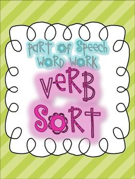 Parts of Speech Sorting {VERBS: 6 sorting activities, tons of fun!}