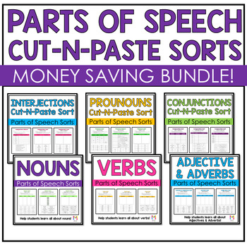 Parts of Speech Sorts - Bundle