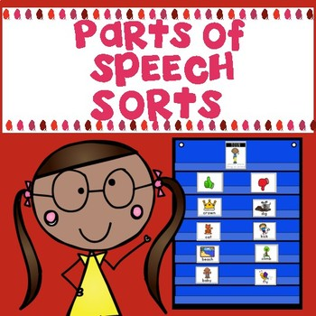 Parts of Speech Sorts (Nouns, Verbs and Adjectives)