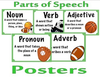 Parts of Speech (Sports Themed)