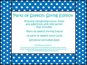 Parts of Speech: Spring Edition