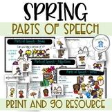 Parts of Speech Spring Theme Nouns Adjectives Verbs