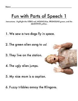 Parts of Speech Star Trek Style