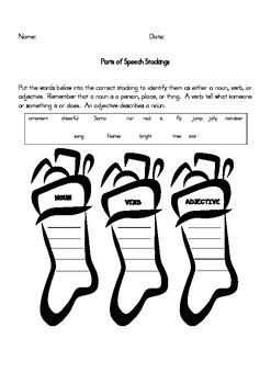 Parts of Speech Stockings
