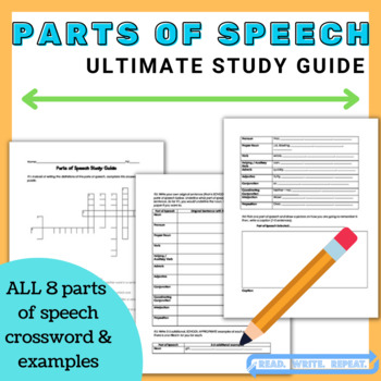 Parts of Speech Study Guide