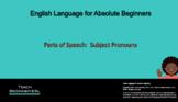 Parts of Speech, Subject Pronouns