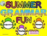 Parts of Speech Summer Differentiated Activites