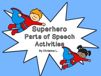 Parts of Speech with Superhero Theme