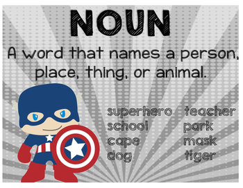 Parts of Speech - Superheroes