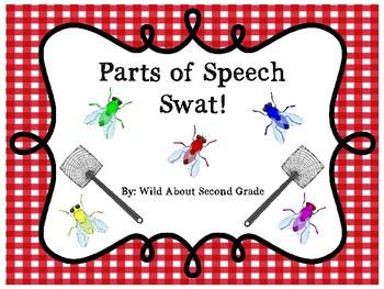 Parts of Speech Swat!  Literacy Center