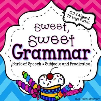 Parts Of Speech Worksheets Teaching Resources Teachers Pay Teachers