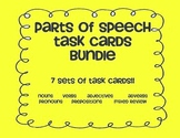 Parts of Speech TASK CARD bundle! Noun Verb Adjective Adverb Pronoun Preposition