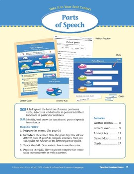 Parts of Speech (Take It to Your Seat Centers: Common Core Language)