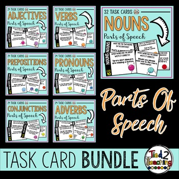 Parts of Speech Task Card Bundle