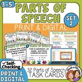 Parts of Speech Task Cards Set 2