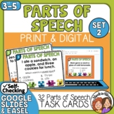Parts of Speech Task Cards Set 2
