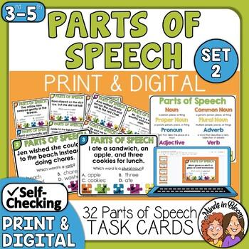 Parts of Speech Task Cards (set 2)