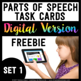 Parts of Speech Digital Task Cards Freebie - Set 1 - Boom