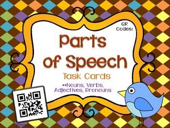 Parts of Speech Task Cards Bundle