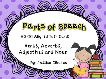 Parts of Speech Task Cards - CCSS Aligned