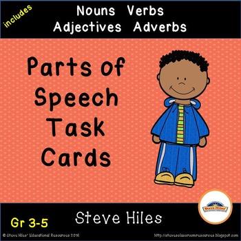 Parts of Speech Task Cards: Grades: 3-5