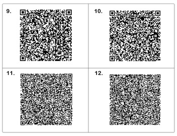Parts of Speech Task Cards - QR Codes