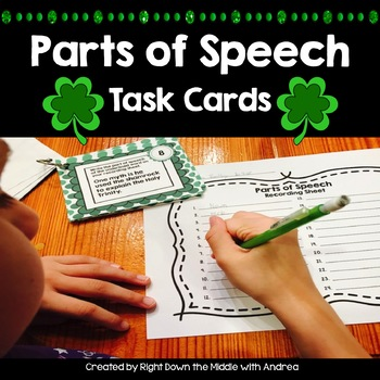 Parts of Speech Task Cards - St. Patrick's Day
