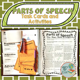Parts of Speech Task Cards and Activities