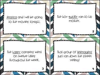 Parts of Speech Task Cards (noun, verb, adjective, adverb)