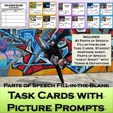 Parts of Speech Task Cards with Picture Prompts: Centers,