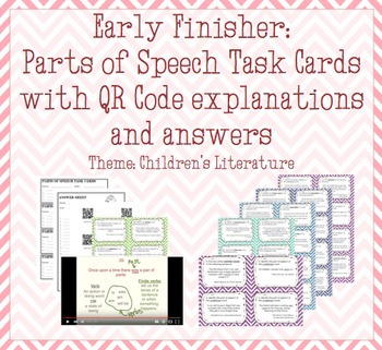 Parts of Speech Task Cards with QR Codes