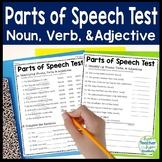 Parts of Speech Test: Identifying Nouns, Verbs & Adjectives Quiz