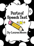 Parts of Speech Test (nouns, adjectives, verbs, adverbs)
