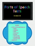 Parts of Speech Tests
