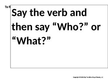 Parts of Speech Think-a-Loud Bubbles