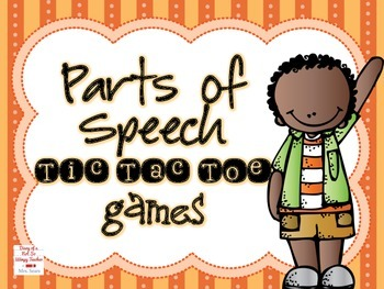 Parts of Speech Tic Tac Toe Games