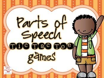 Parts of Speech Tic Tac Toe Games