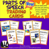 Parts of Speech Trading Cards