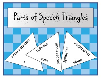 Parts of Speech Triangles (puzzles)