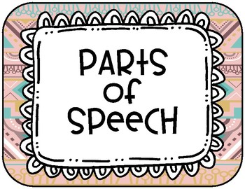 Parts of Speech Tribal