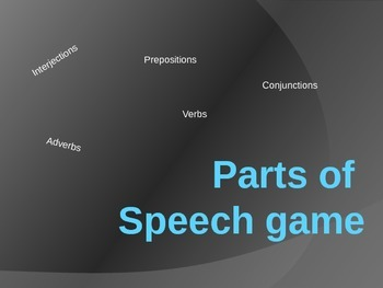 Parts of Speech Trivia Game